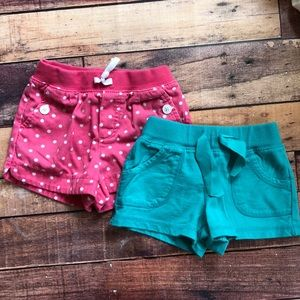 Two Pair Girls 4T Carter's Play Shorts